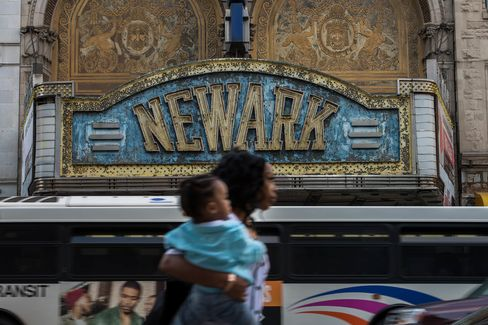 Views Of Newark As New Jersey's Credit Rating Falls