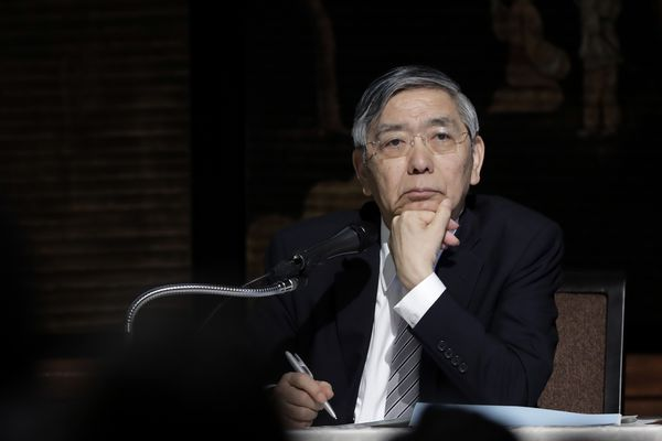 Bank of Japan Governor Haruhiko Kuroda Speaks At An Event