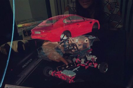 Inspecting the details of an automobile using an AR-enhanced web browser.