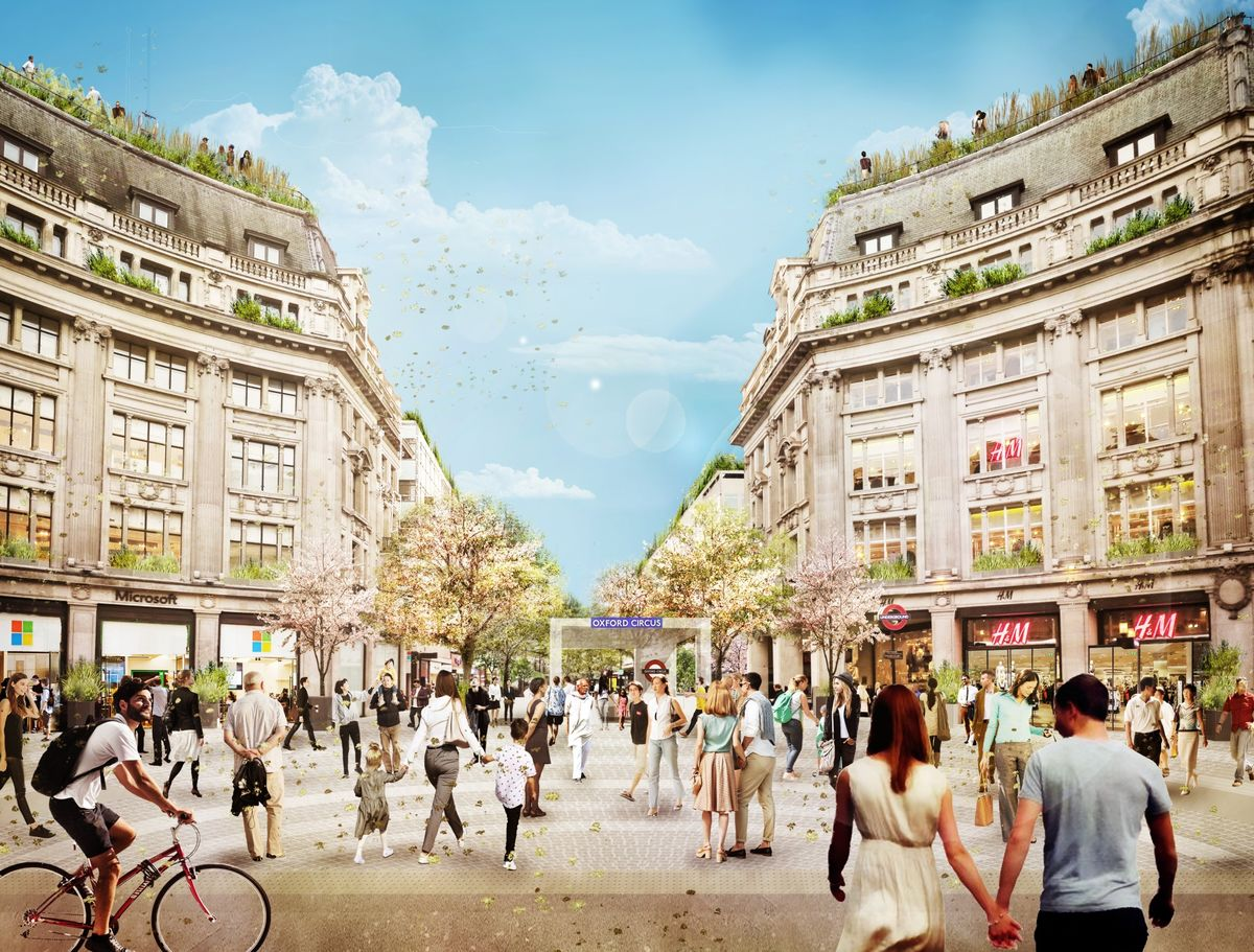 London's Oxford Circus Is Kicking Out Cars