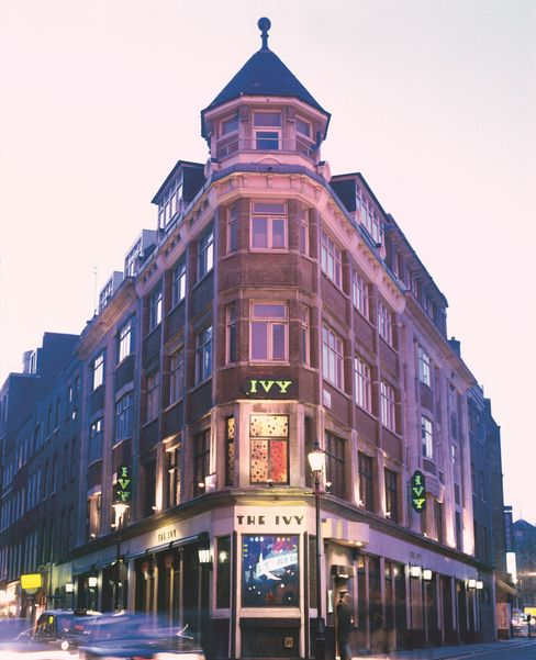 The Ivy occupies a corner site in the heart of London's theaterland.