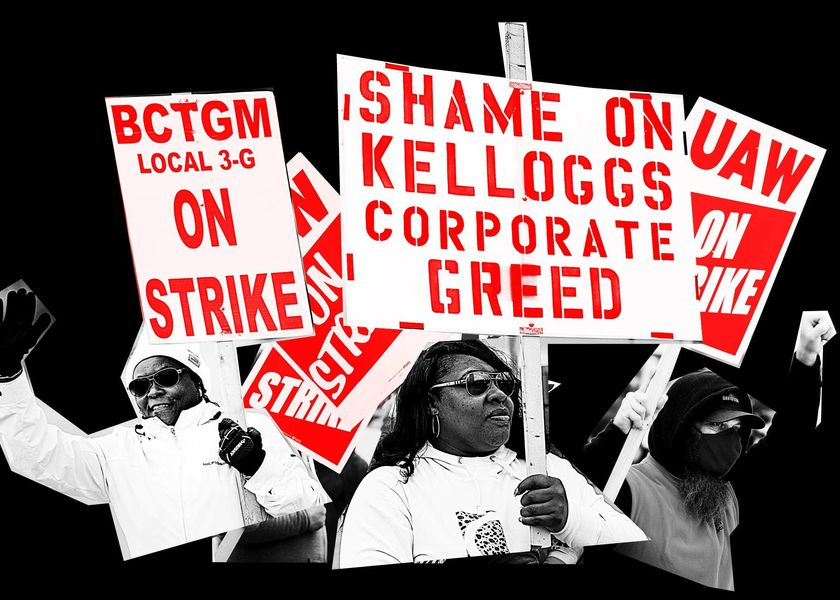 relates to Workers Press for Power in Rare Advance for U.S. Labor Movement