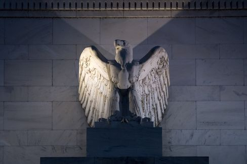 The Federal Reserve Building Stands in Washington