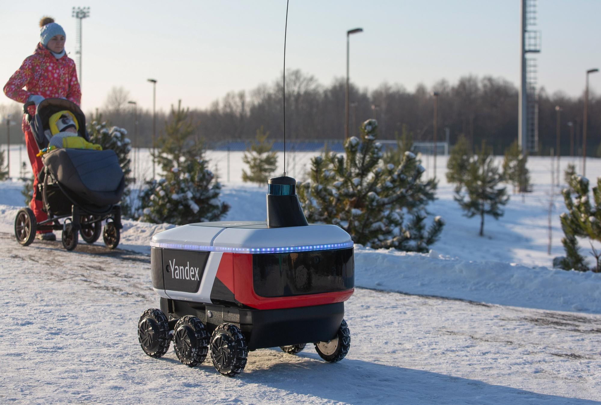 Yandex NV Tests Autonomous Delivery Robots on Russian Streets