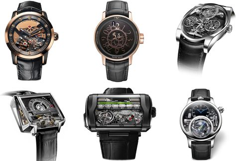 Fluid-based indicators, wandering hours, and new escapement are at home in this category.