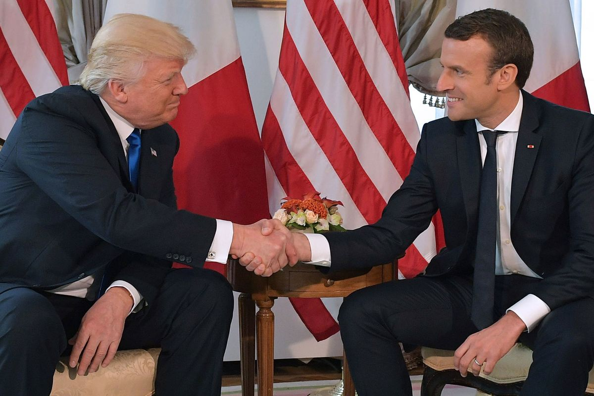 The Moment Emmanuel Macron Gave Up On Donald Trump Bloomberg