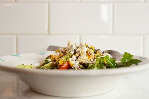 A summery succotash salad with shell beans and corn.