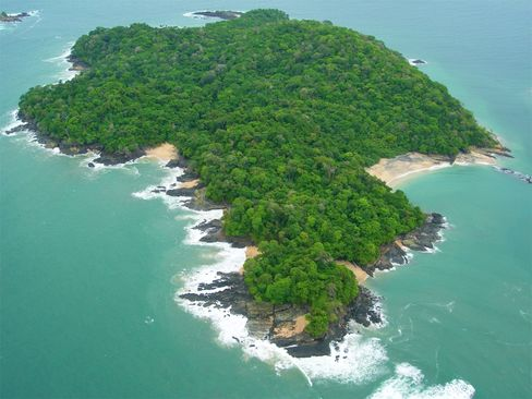 Isla de Puercos, a 200-acre tropical island in the Gulf Coast of Panama, is offered for $11 million by Sotheby's International Realty