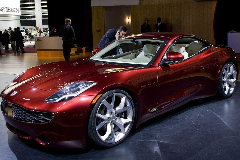 A Fisker Karma Electric Hybrid Car At The North American International Auto Show In Detroit