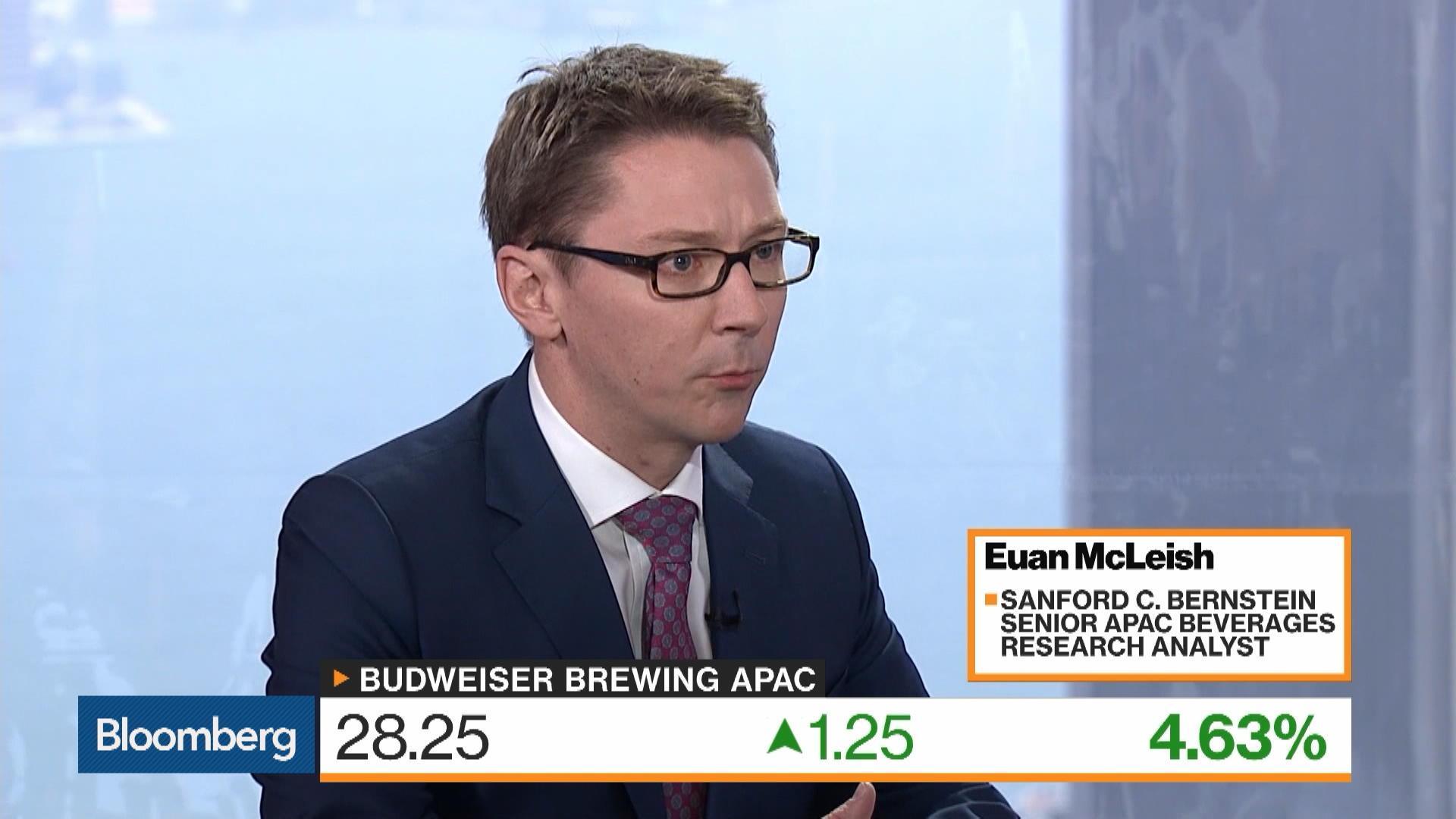 Euan McLeish on Anheuser-Busch InBev NV Asian Unit Budweiser Brewing