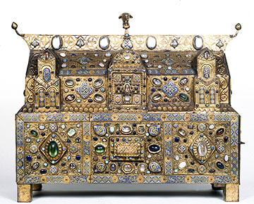Chasse of Ambazac, c. 1180- 1190 AD, a medieval reliquary from Limoges.