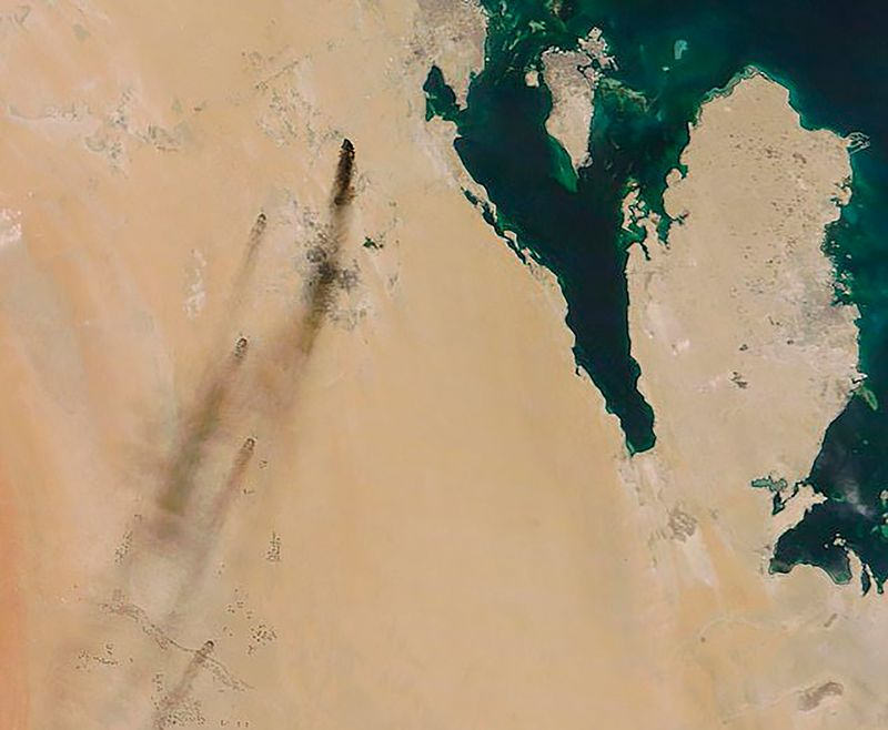 relates to Saudi Oil Output Cut in Half After Drones Strike Aramco Site