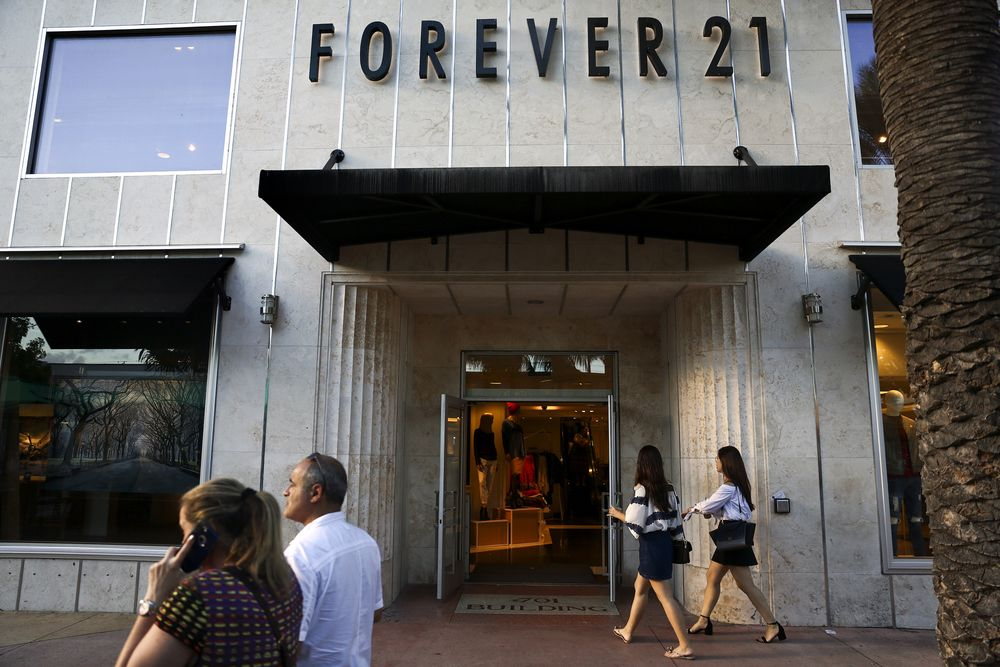 A Forever 21 store in Miami Beach