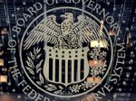 The US Federal Reserve emblem is seen on
