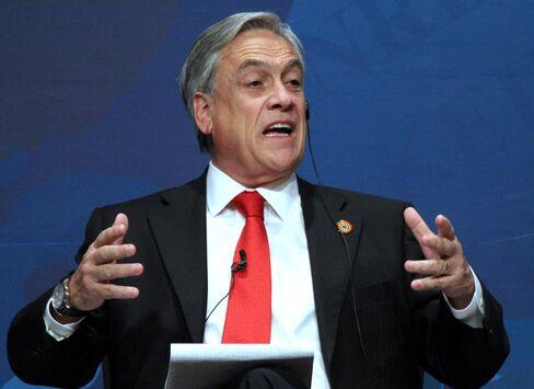 Pinera Bullish on Chilean GDP Growth Amid 'Gloomy' World Picture