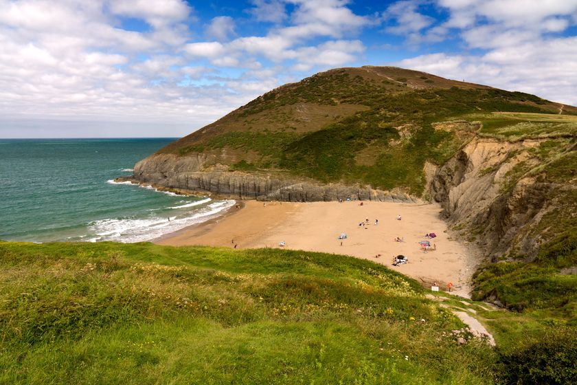 Mwnt beach on the Ceredigion coast path.