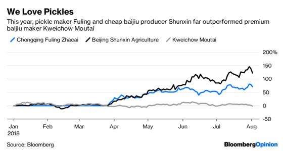 Queasy From China'sStock Rout? TryPickles and Booze