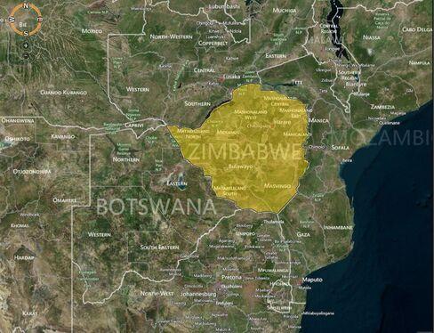 MAP: Zimbabwe