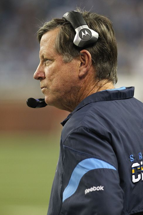 Head Coach Norv Turner of the San Diego Chargers