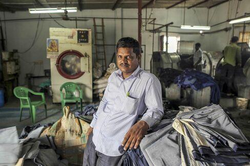 Bachal Lal Varma, owner of Aditya jeans washers.