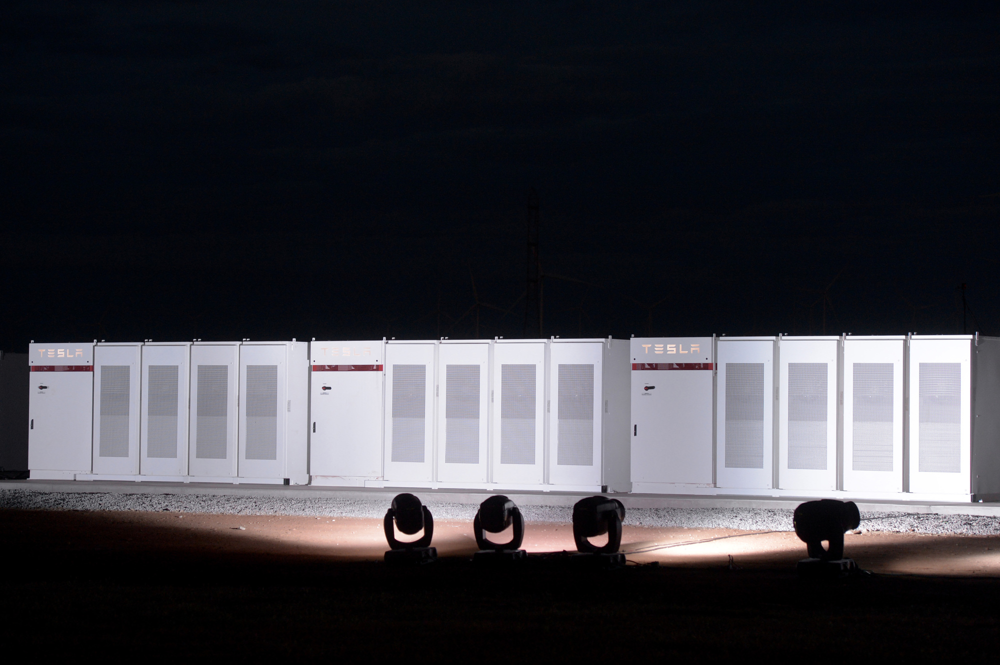 Tesla CEO Elon Musk Attends Powerpack Project Event at the Hornsdale Windfarm