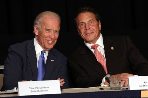 Biden appears with Cuomo to unveil plans for new area infrastructure projects in July in New York City.