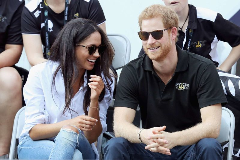 Prince Harry, Meghan Markle Together at Tennis match