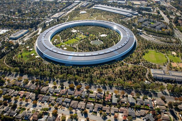Aerial Views Of Silicon Valley Housing And Tech Campuses