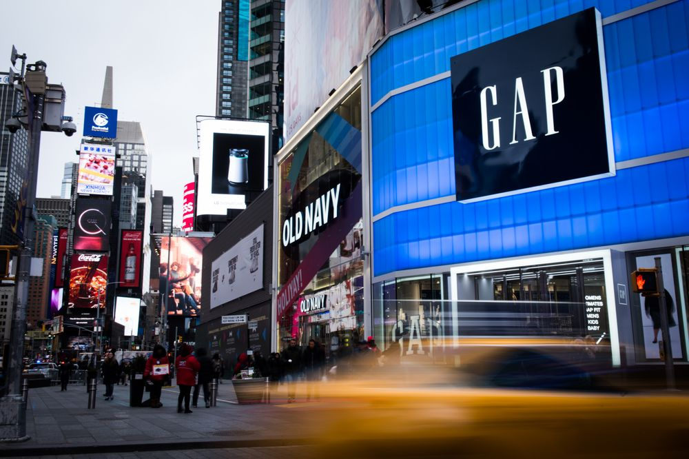 Pedestrians P In Front Of Gap Inc And Old Navy S The