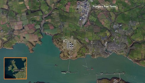 Milford Haven can store 9 million barrels of crude and products.