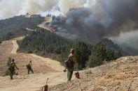 Firefighters Battle The Dolan Fire On California's Big Sur Coastline