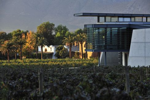 Errazuriz vineyard and winery, Chile.