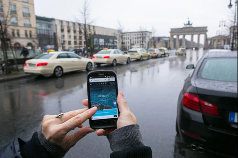 Berlin's Mercedes-Benz Taxis