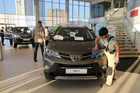 Automotive Sales At Toyota Motor Corp. Dealership As Putin Announces