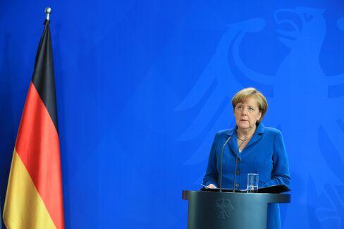 Angela Merkel makes a statment on July 23.