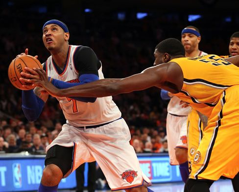 Anthony Says Knicks Outworked by Pacers in Game 1 Playoff Loss