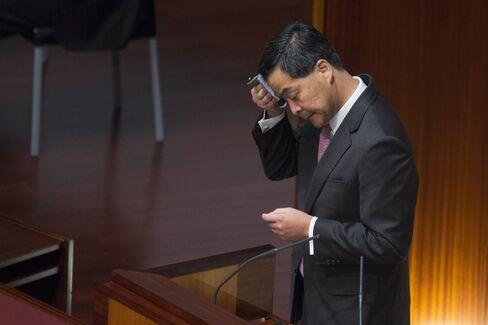 Hong Kong Chief Executive Leung Chun-ying