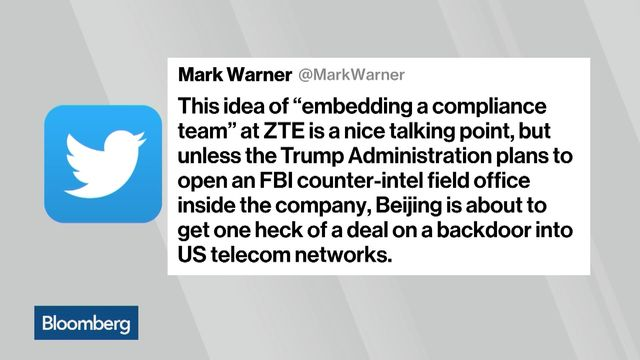 Senators move to reverse Trump's deal lifting sanctions on China's ZTE