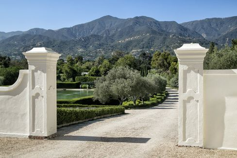 The gates to the property.