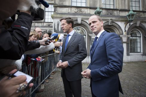 Dutch Liberals, Labor Set to Talk as Rutte Urges More Austerity