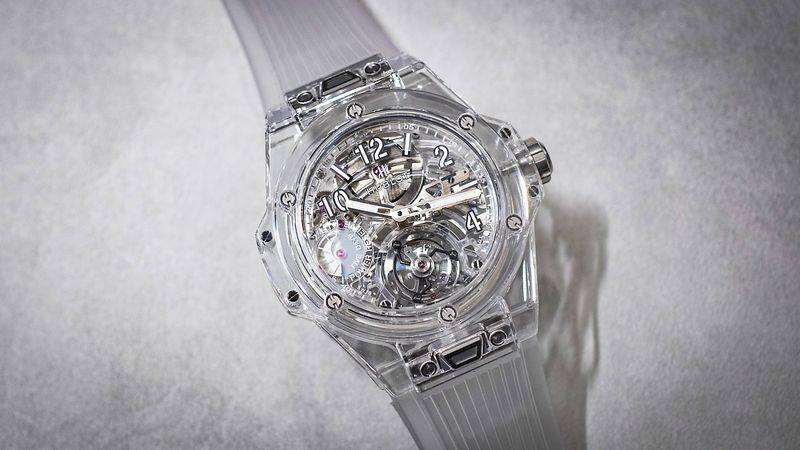 movement watch with case s crystal on mille richard model cased dollar the pin transparent and suspended plus luxury sapphire million watches complex latest based tourbillon
