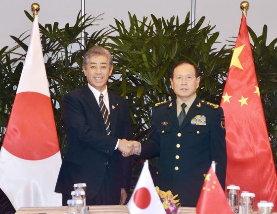Japan, China Defense Ministers Meet for First Time in 3 Years