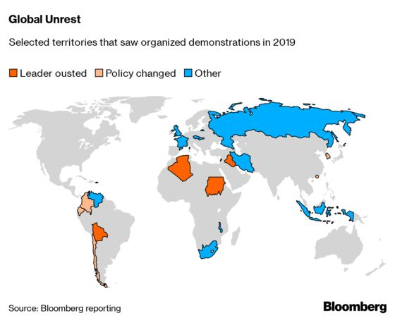 A Year of Protests Sparked Change Around the Globe