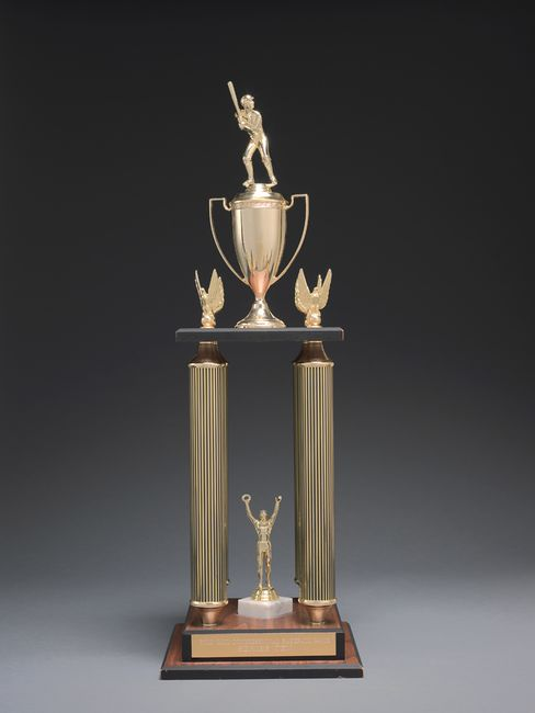 This trophy was awarded to the winning Republican team at the 2005 game.