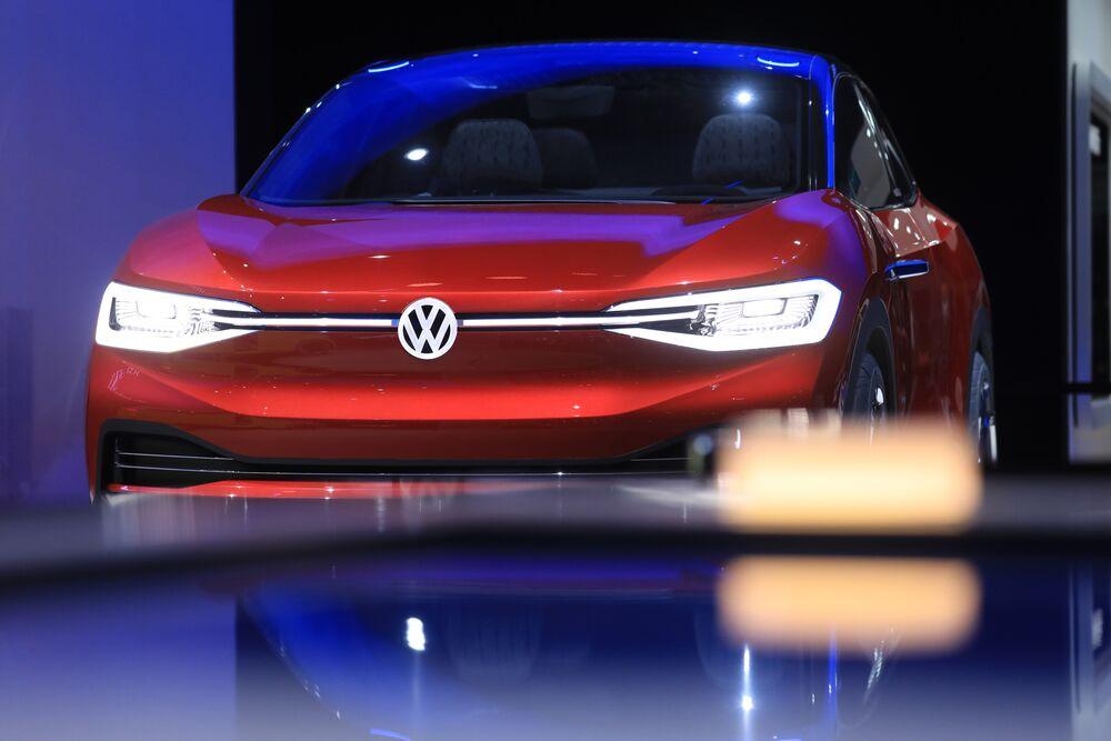 A Volkswage I D Crozz Concept Electric Car
