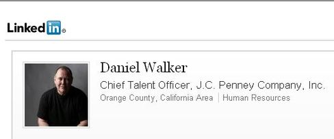 J.C. Penney Chief Talent Officer Daniel Walker