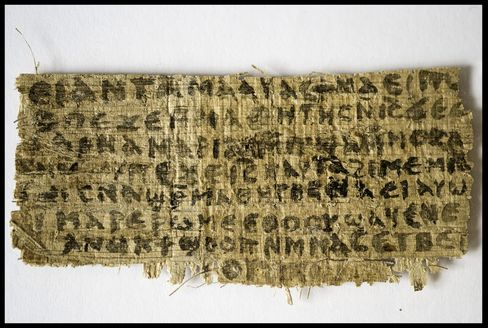 Jesus' Wife Mentioned in Gospel on Fourth-Century Papyrus