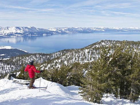 You could ski down this peak in Lake Tahoe andinto an UberSki car, which is outfitted with racks for your equipment