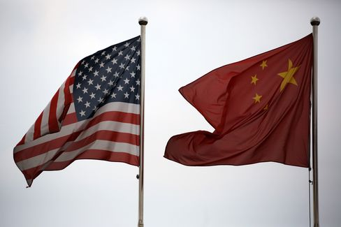 U.S. & Chinese National Flags