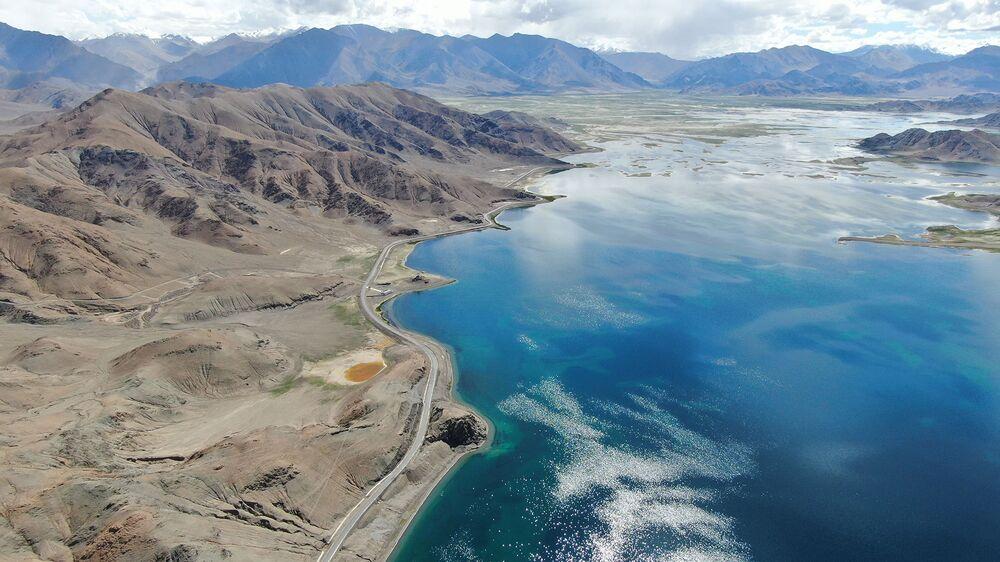 Image result for pangong lake india-china border